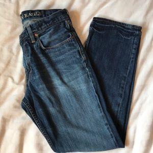 American Eagle slim straight mid rinse jeans